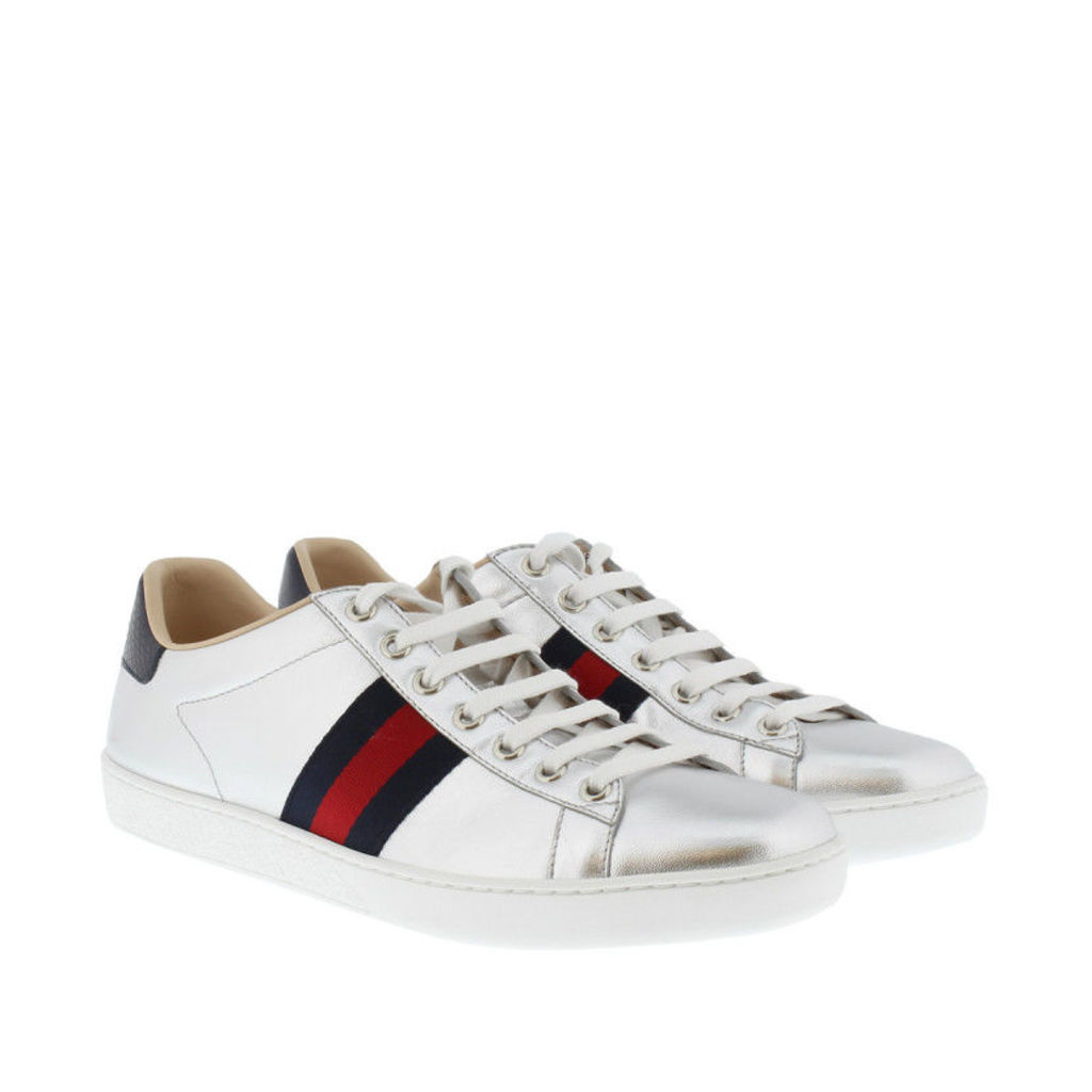 Gucci Sneakers - Nappa Silk Sneaker Argento - in silver - Sneakers for ladies
