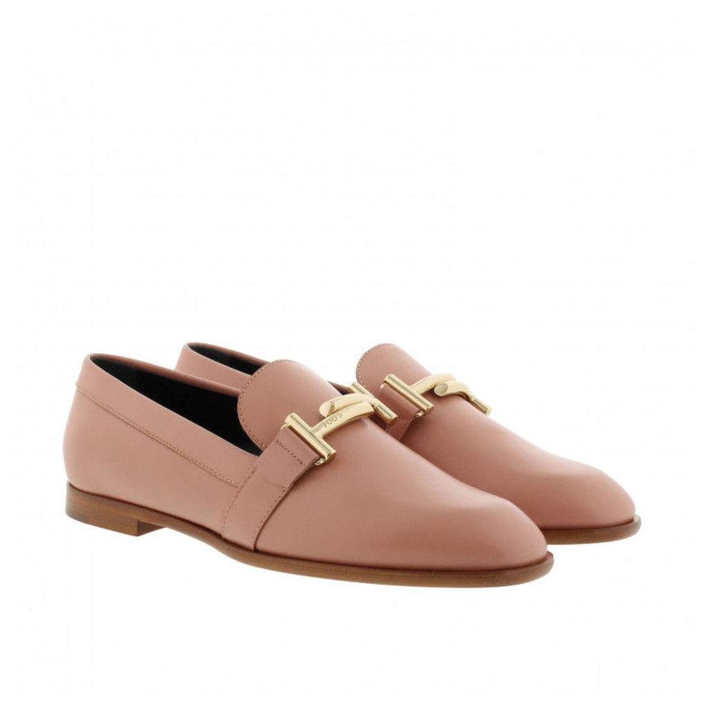 Tod's Loafers & Slippers - Double T Leather Loafer Cheek - in rose - Loafers & Slippers for ladies