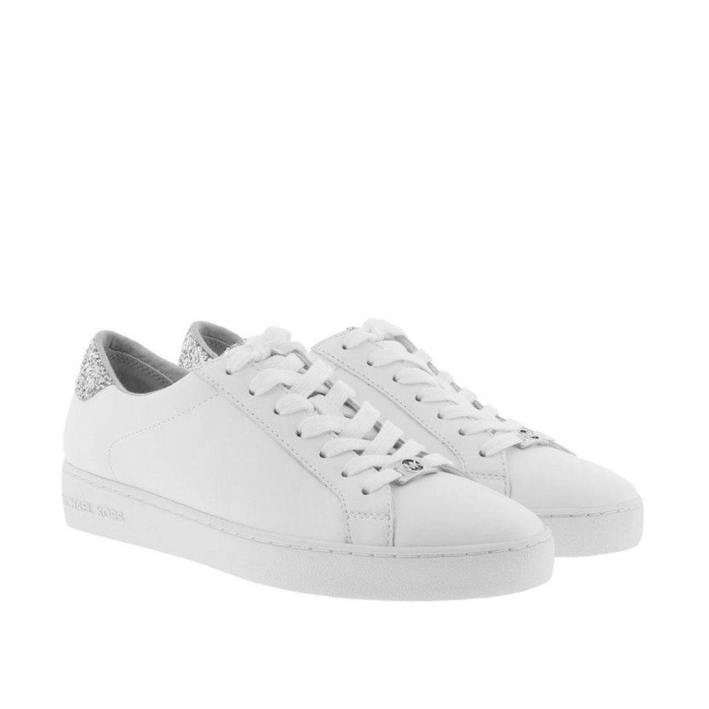 Michael Kors Sneakers - Irving Lace Up Sneaker Optic White/Silver - in white, silver - Sneakers for ladies