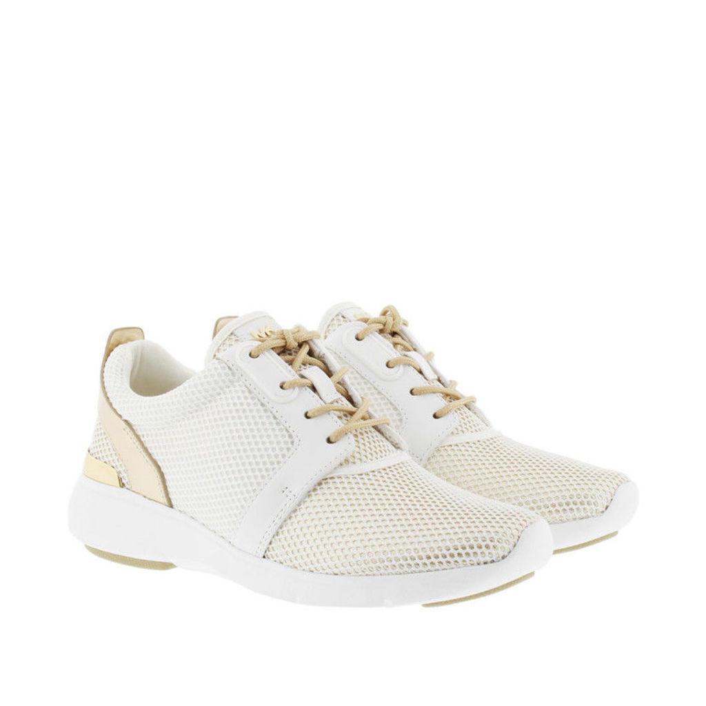Michael Kors Sneakers - Amanda Trainer Net Mesh Sneaker Optic White/Pale Gold - in gold, white - Sneakers for ladies