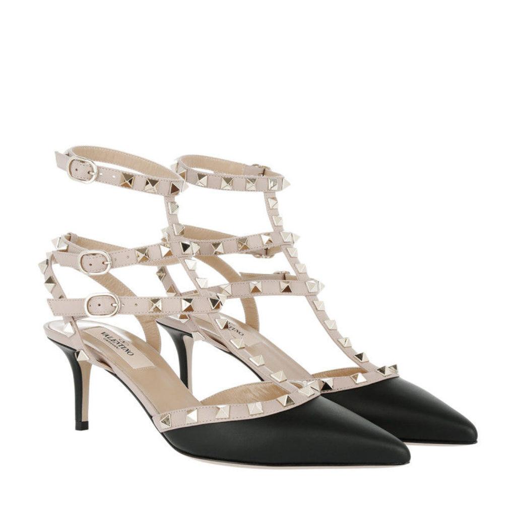Valentino Pumps - Rockstud Ankle Strap Pumps Nero/Poudre - in black - Pumps for ladies
