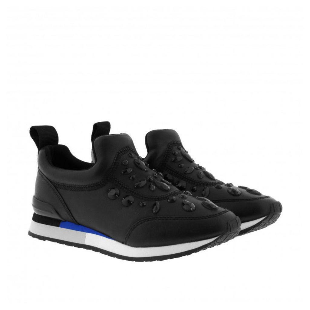 Tory Burch Sneakers - Laney Embellished Nappa Leather Sneaker Black - in black - Sneakers for ladies