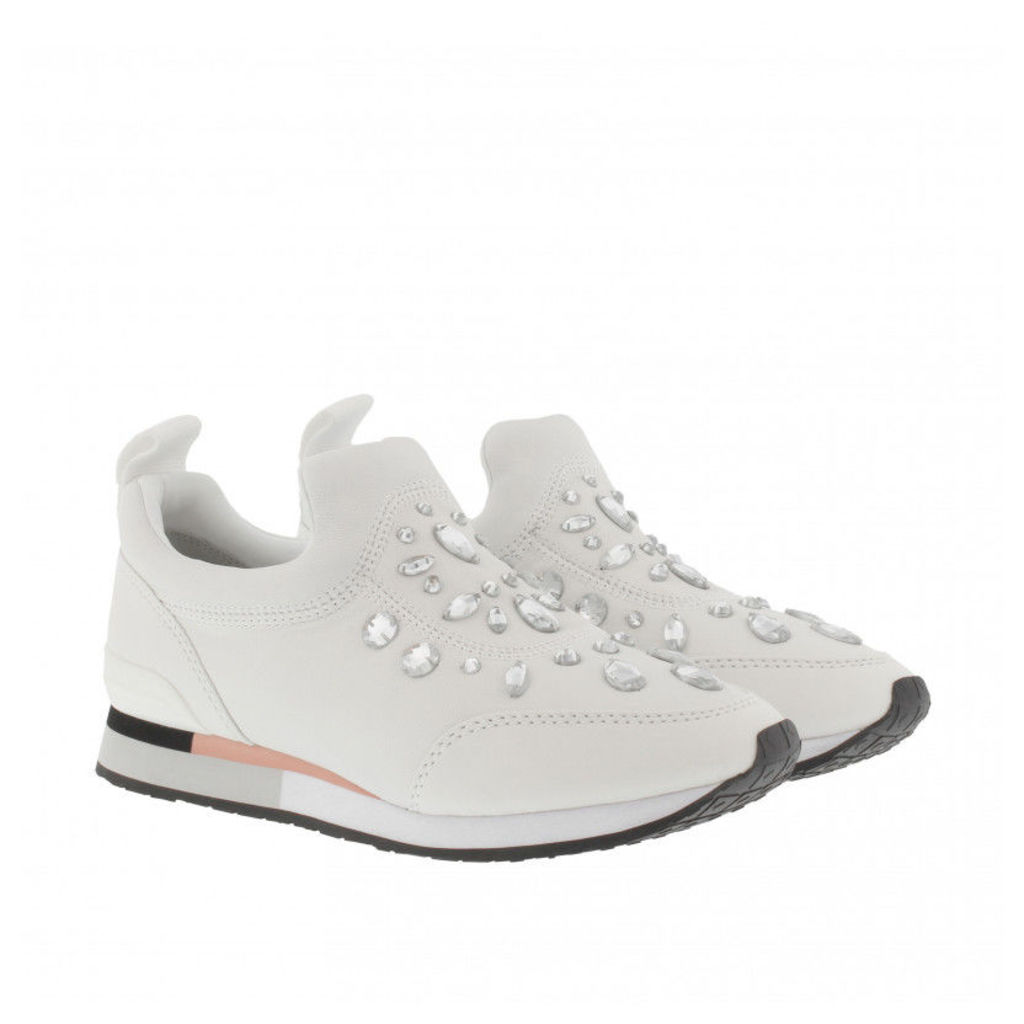 Tory Burch Sneakers - Laney Embellished Nappa Leather Sneaker White - in white - Sneakers for ladies