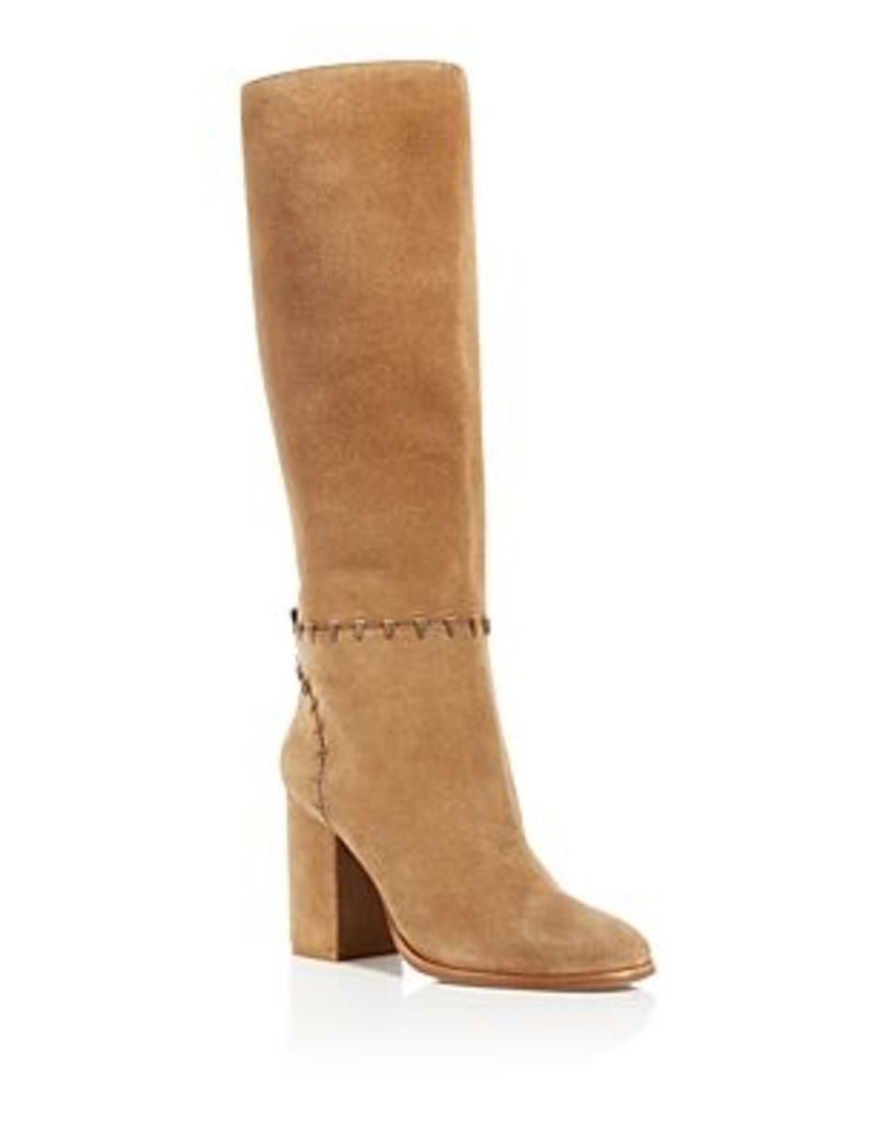 Tory Burch Contraire Stitched Block Heel Knee Boots