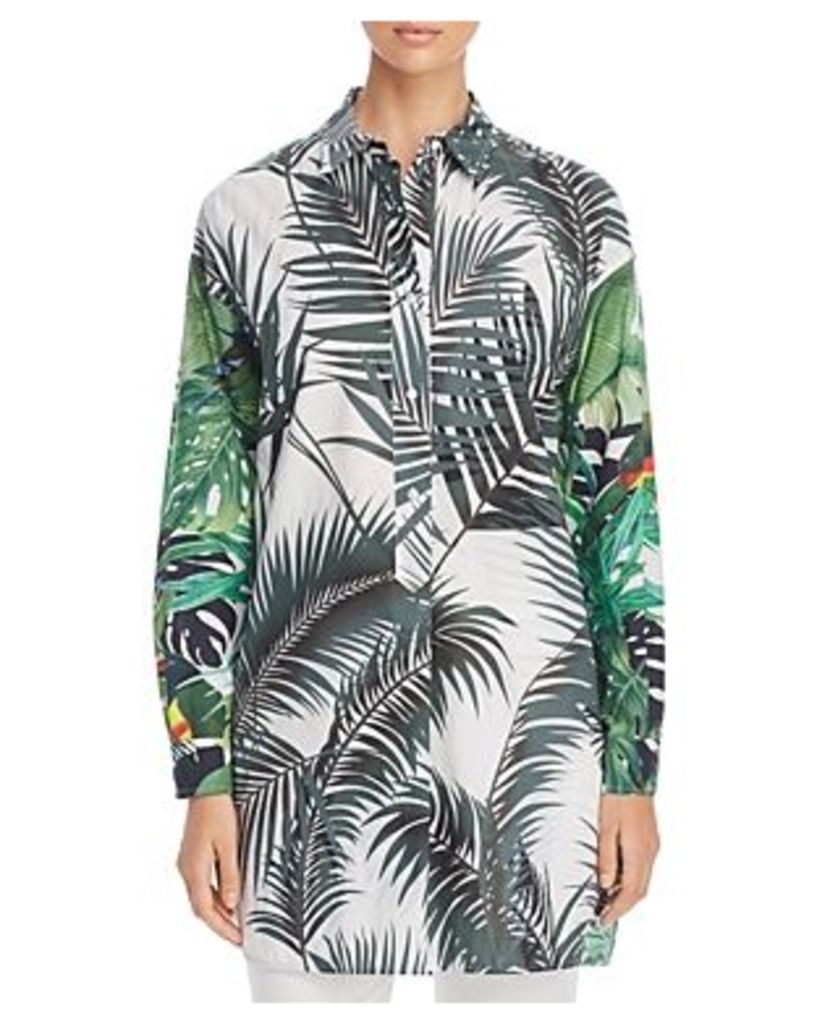Max Mara Diego Tropical-Print Shirt