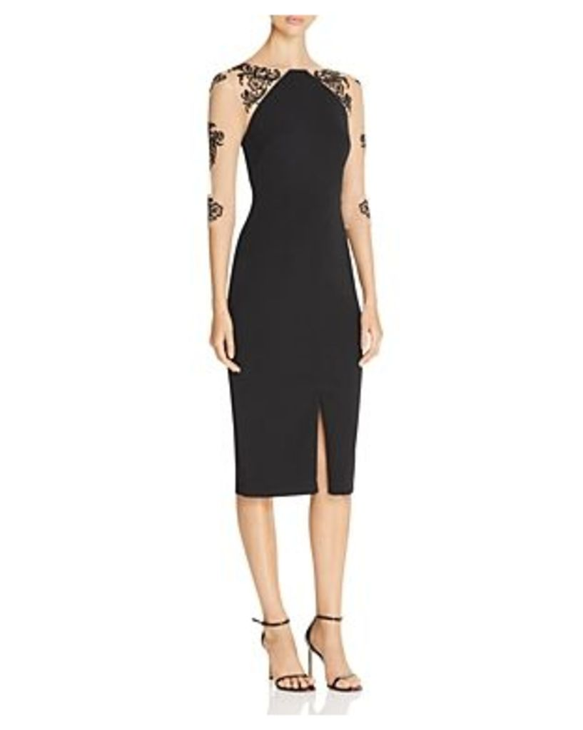 Js Collections Illusion-Detail Dress
