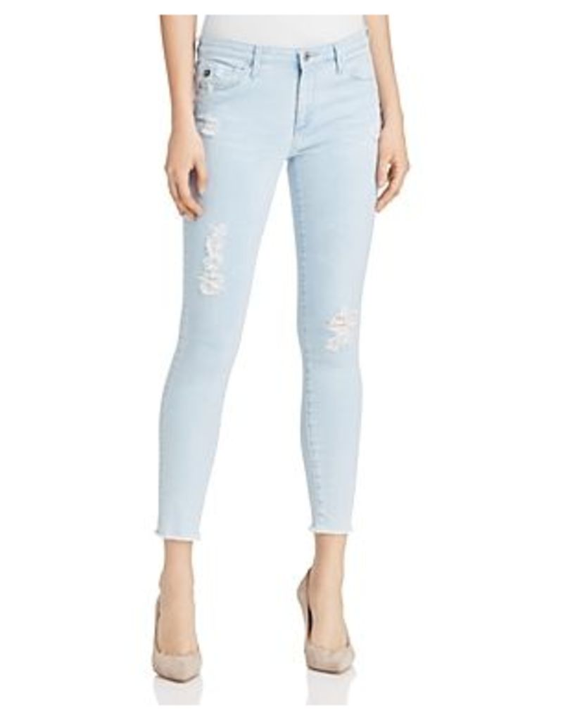 Ag Middi Distressed Skinny Ankle Jeans