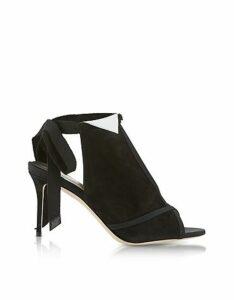 Olgana Paris Designer Shoes, La Jolie Black Suede High Heel Pump