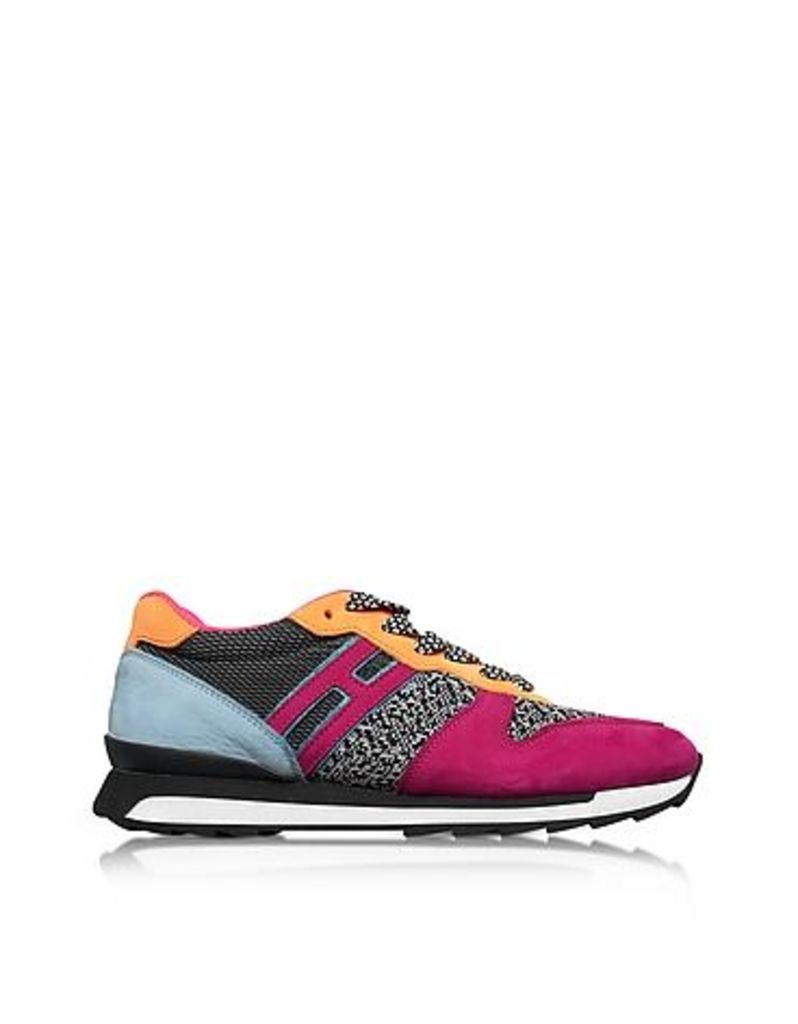Hogan - R261 Multicolor Fabric and Suede Sneakers