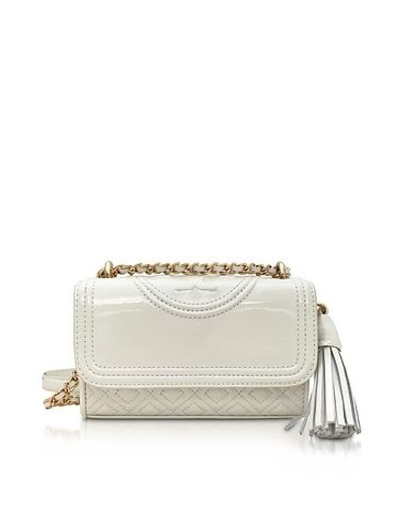 Tory Burch - Fleming Patent New Ivory Micro Shoulder Bag