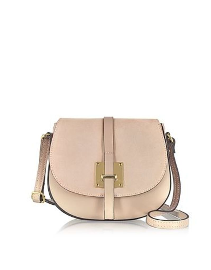 Le Parmentier - Nude Leather and Suede Crossbody Bag
