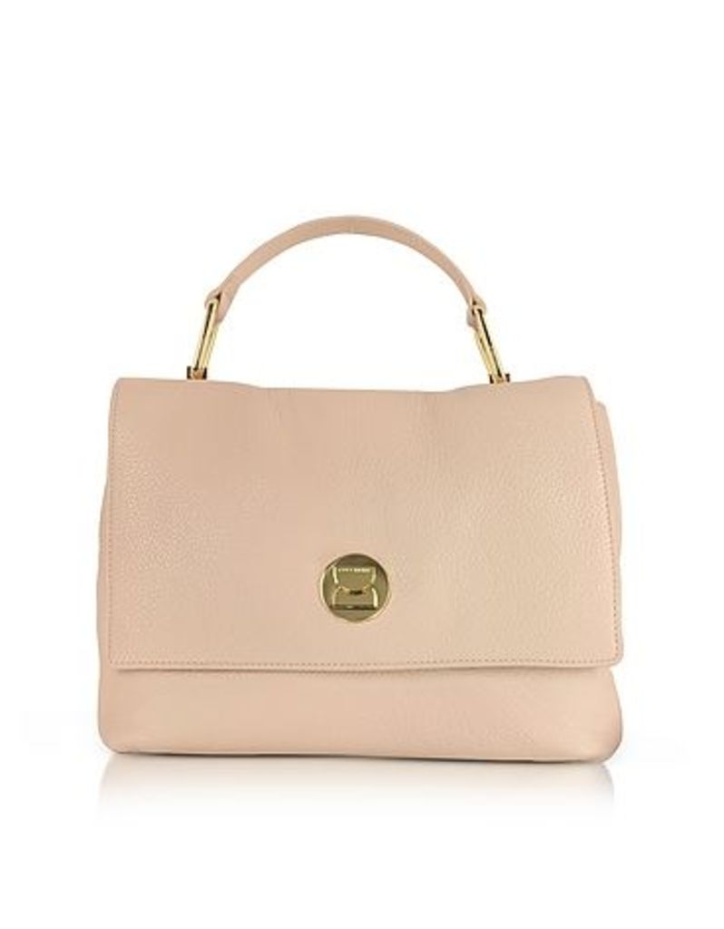 Coccinelle - Liya Degas Pink Grainy Leather Satchel Bag