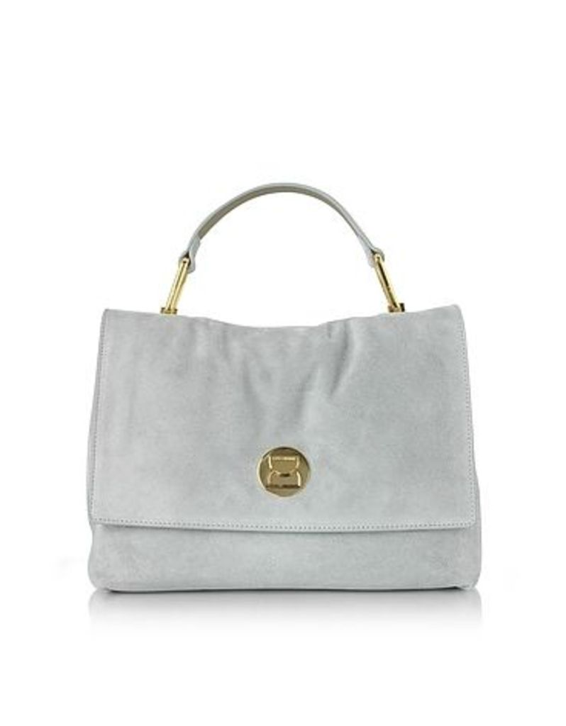 Coccinelle - Liya Iris Gray Suede Satchel Bag