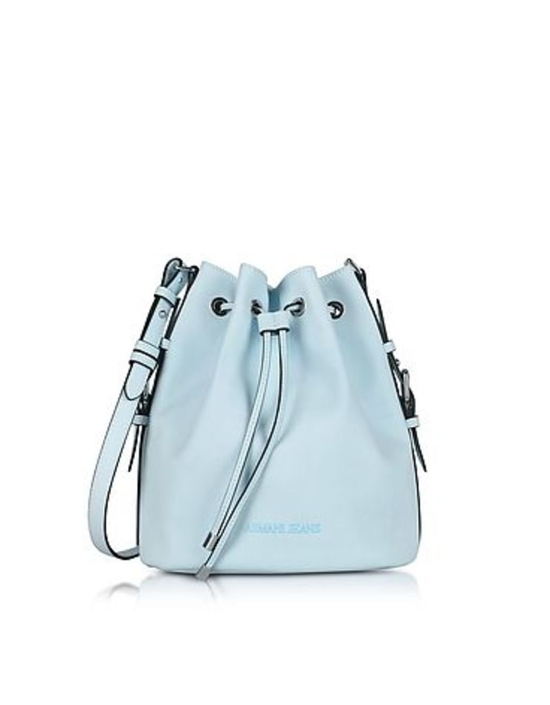 Armani Jeans - New Light Blue Eco Leather Bucket Bag