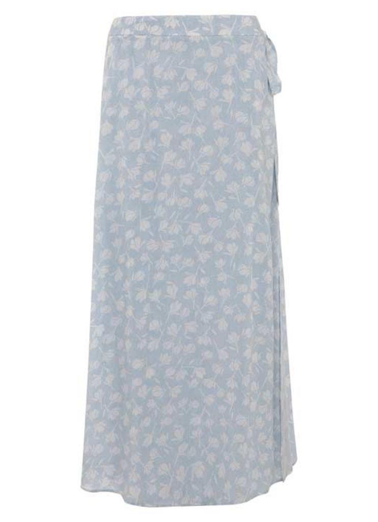 Delilah Print Wrap Maxi Skirt
