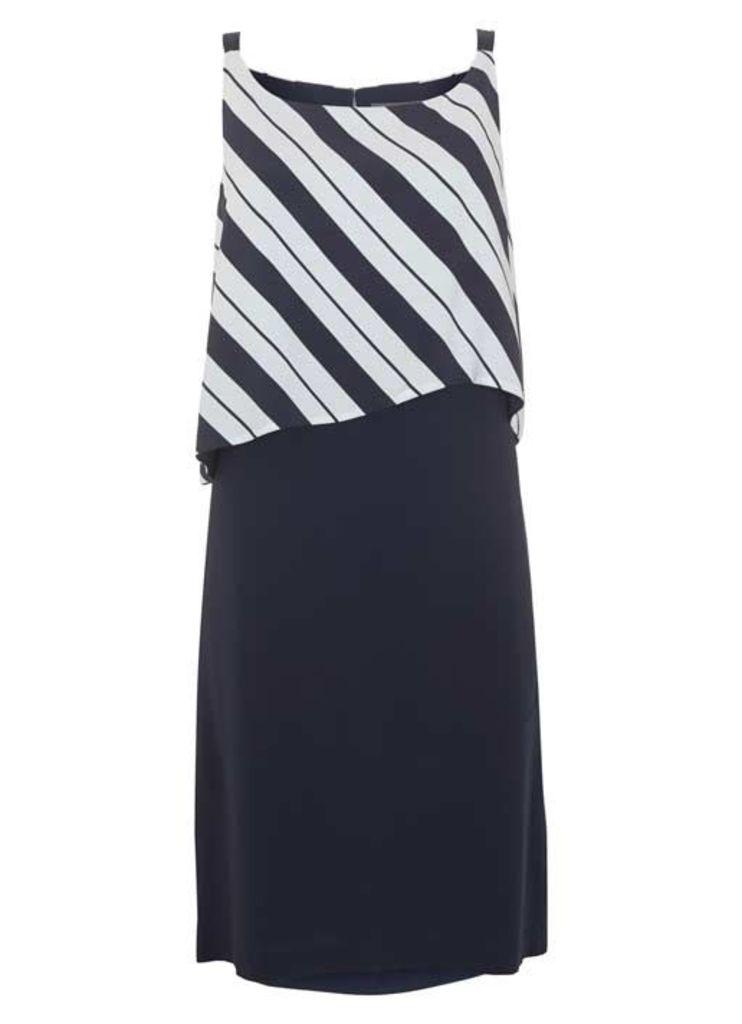 Stripe Cape Dress