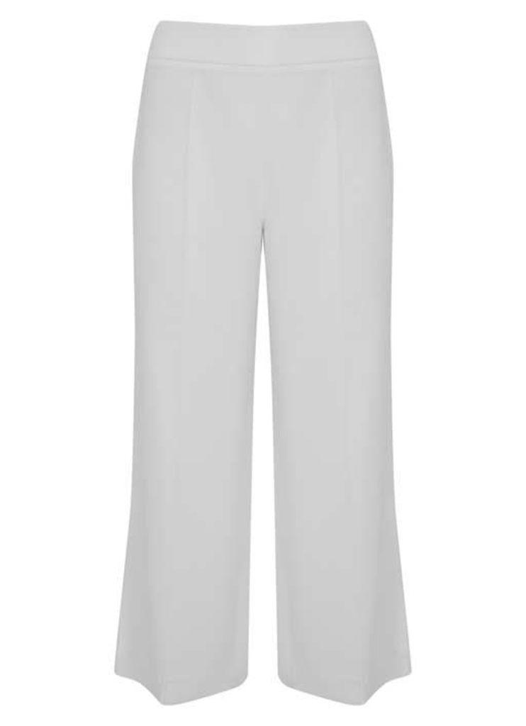 Ivory Wide Side Split Crop Trouser