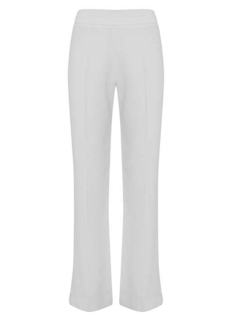 Ivory Side Split Wide Leg Trouser