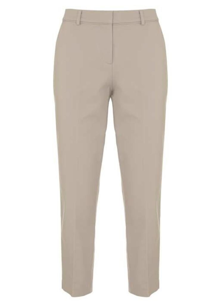 Oyster Stretch Cotton Crop Trouser