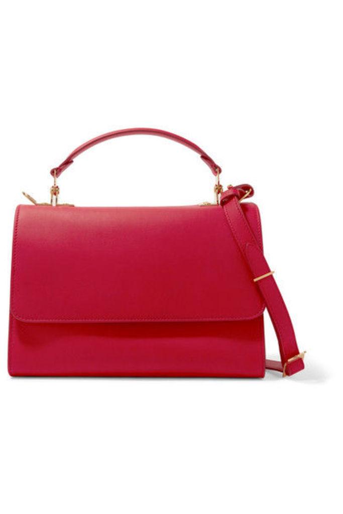 Sophie Hulme - Parker Medium Leather Shoulder Bag - Red