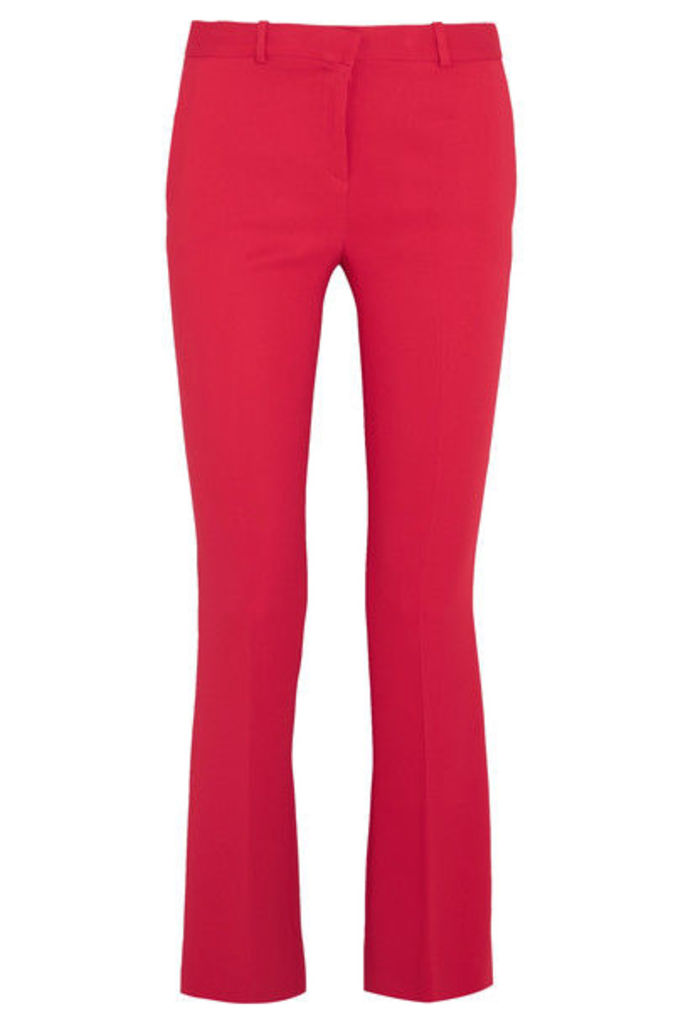 Versace - Stretch-crepe Flared Pants - Tomato red