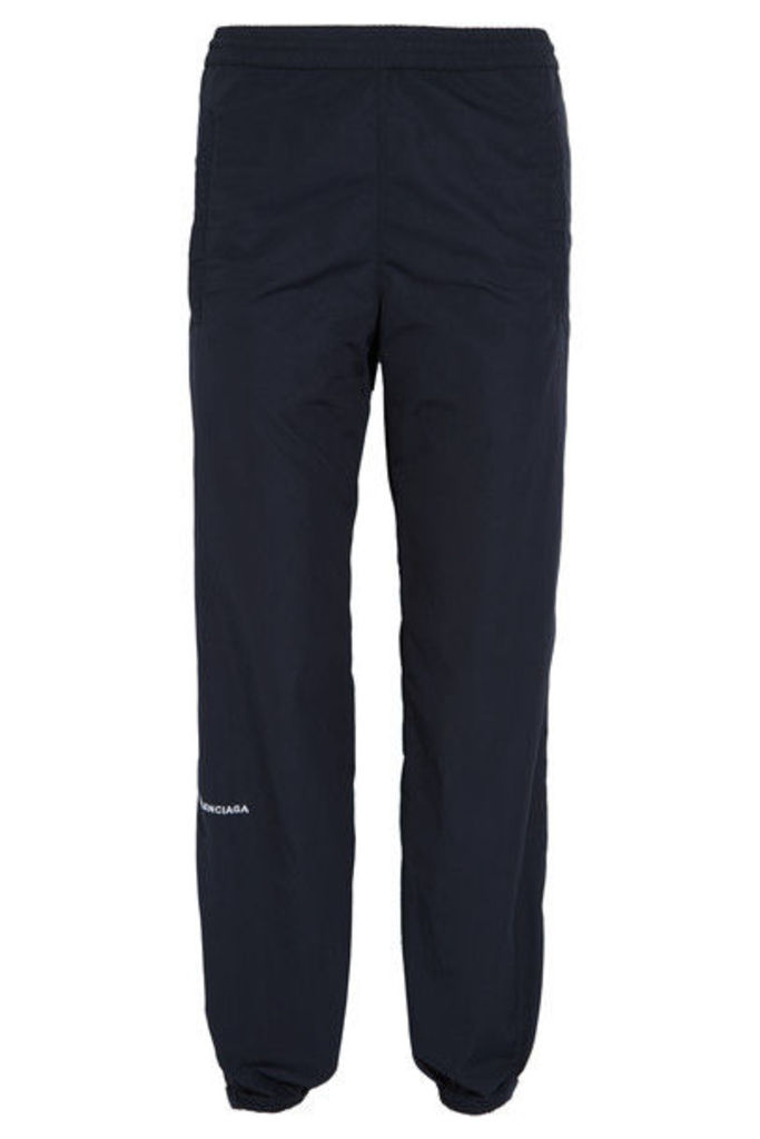 Balenciaga - Cropped Tech-cotton Track Pants - Navy