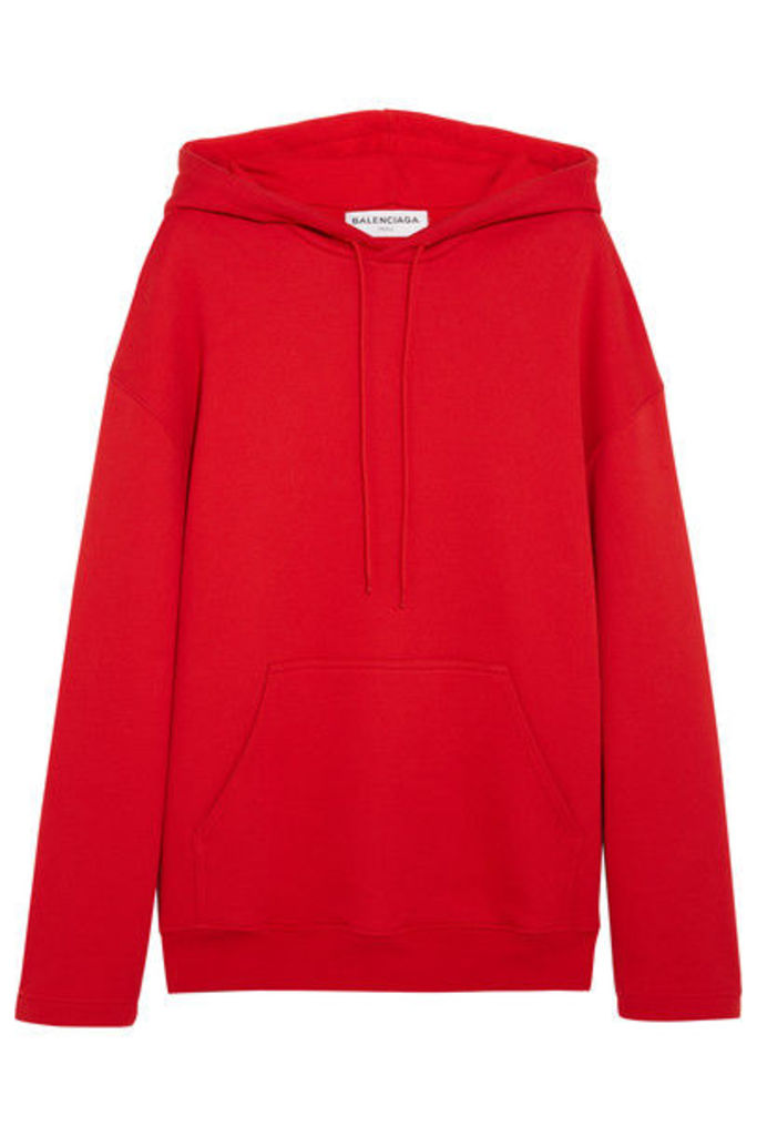 Balenciaga - Cotton-jersey Hooded Top - Red