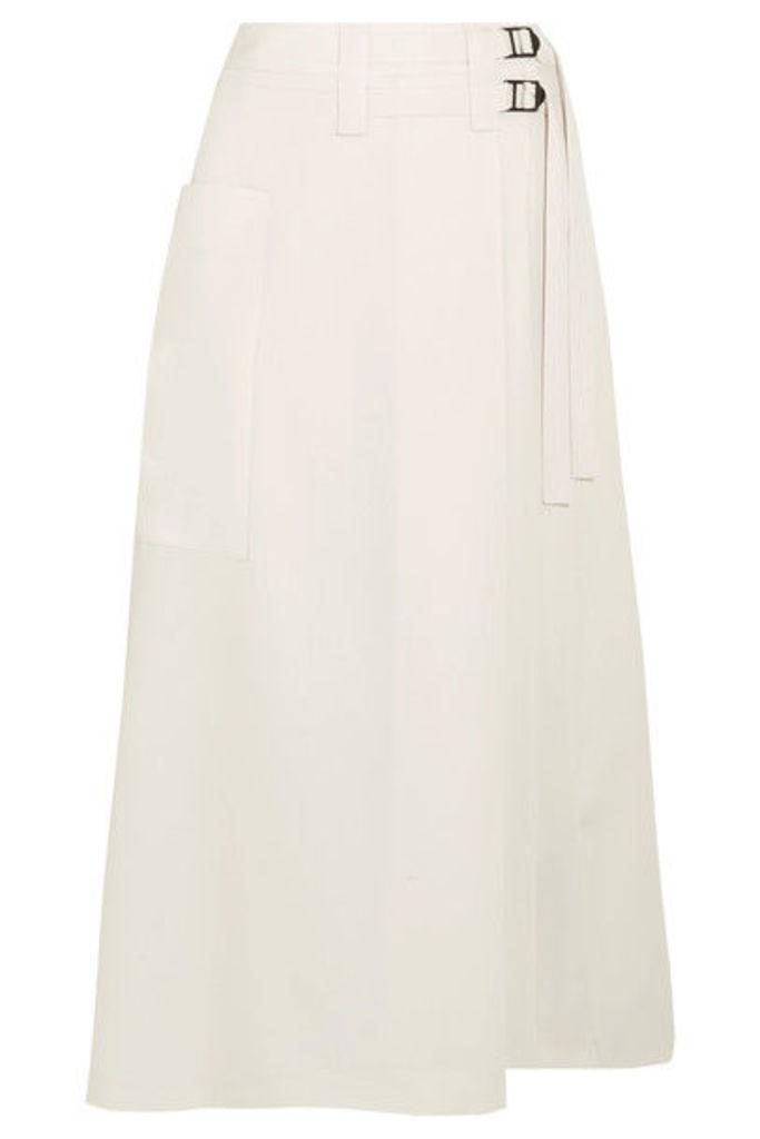 Bottega Veneta - Wool-crepe Wrap Skirt - Off-white