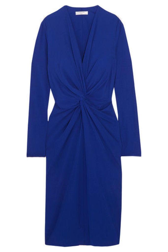 Lanvin - Twist-front Jersey Dress - Royal blue