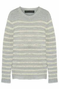 The Elder Statesman - Picasso Striped Cashmere Sweater - Light gray