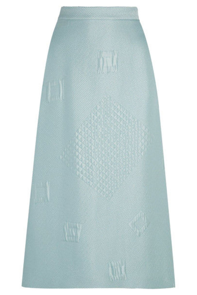 Hillier Bartley - Quilted Jacquard Midi Skirt - Mint