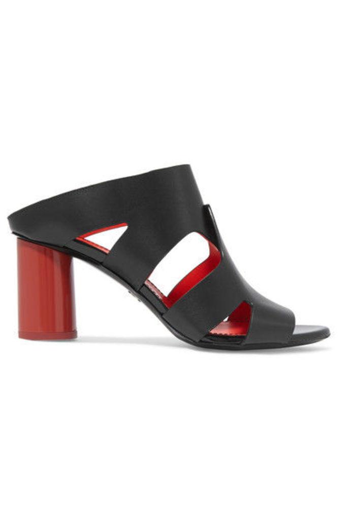 Proenza Schouler - Cutout Leather Mules - Black