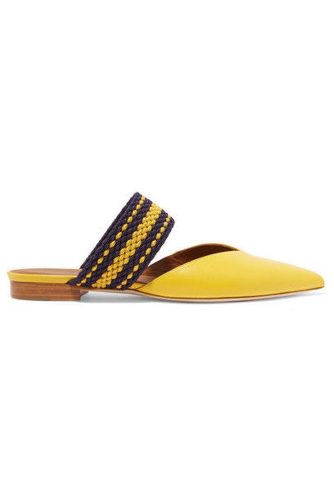 Malone Souliers - + Roksanda Hannah Leather Point-toe Flats - Yellow