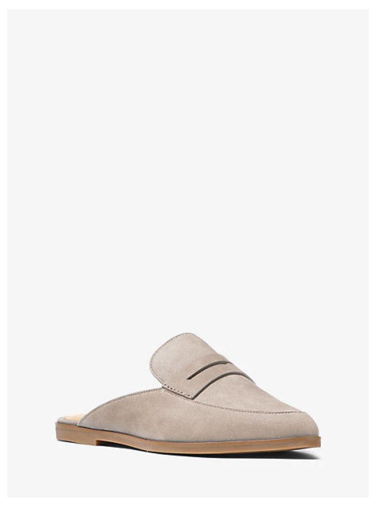 Geri Leather Slide