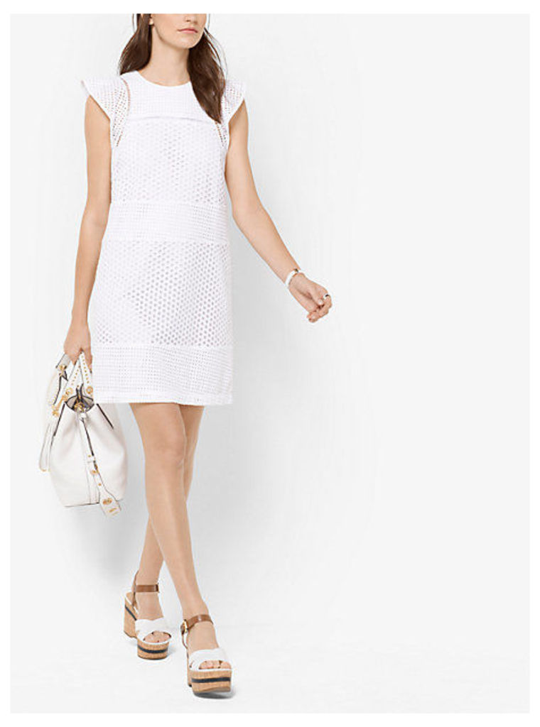 Eyelet-Embroidered Shift Dress