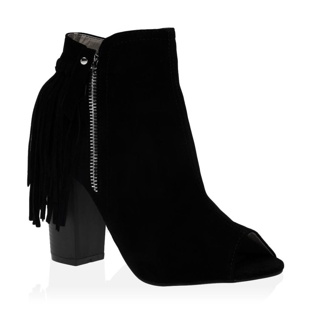 Amira Ankle Boots  Faux Suede, Black