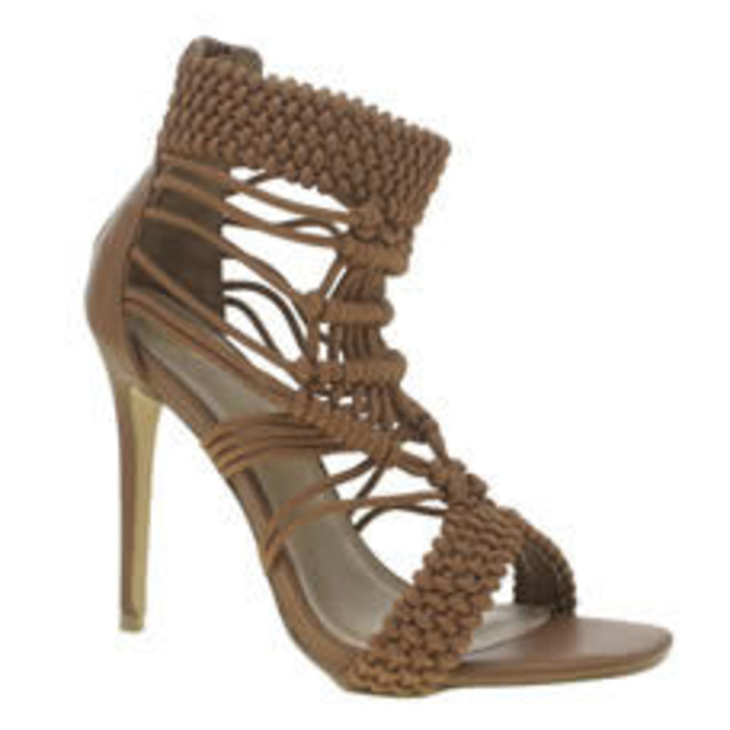 Missguided Tan Origami Rope Womens High Heels