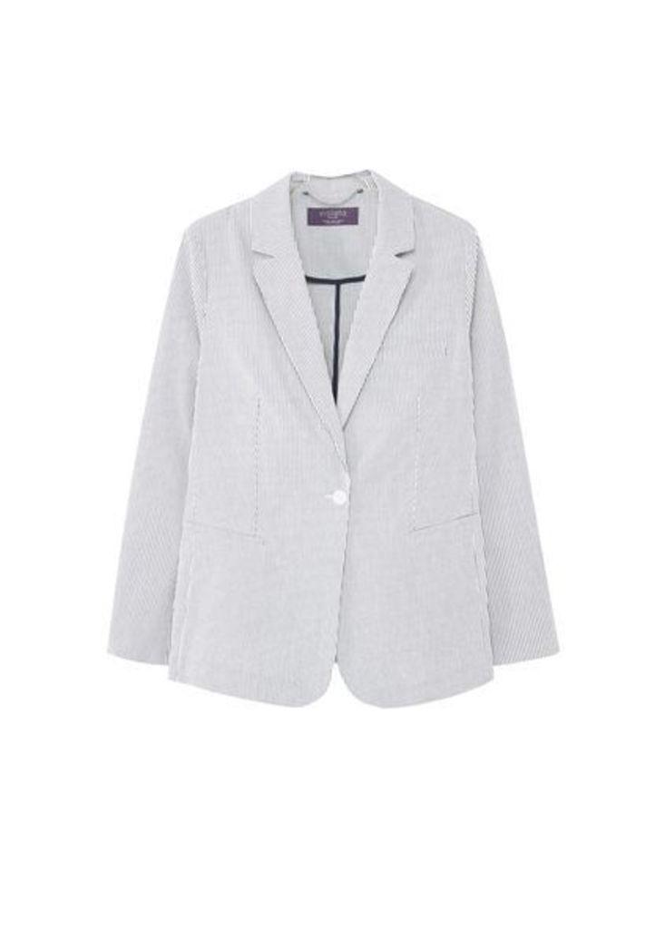 Striped cotton blazer