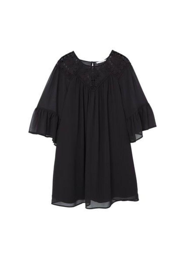 Guipure appliqué dress