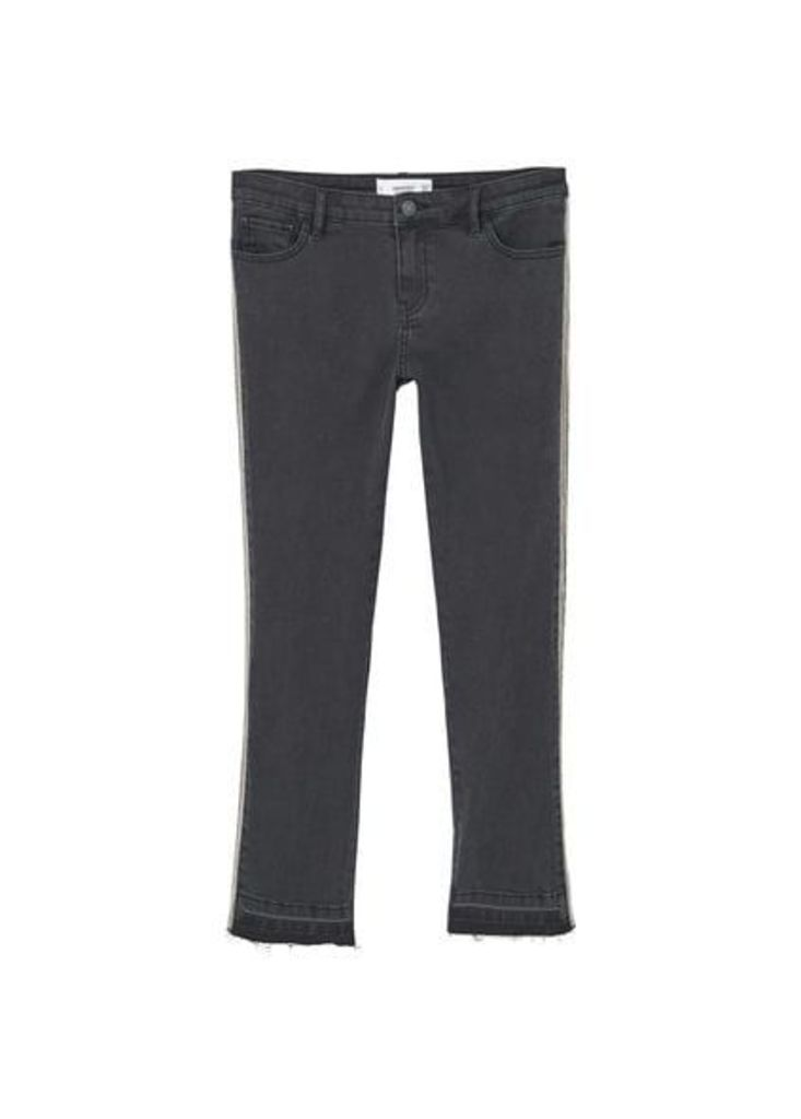 Relaxed crop Chain jeans
