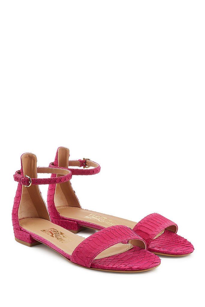 Salvatore Ferragamo Snakeskin Sandals