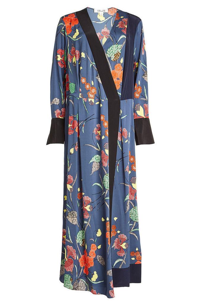 Diane von Furstenberg Printed Silk-Blend Dress