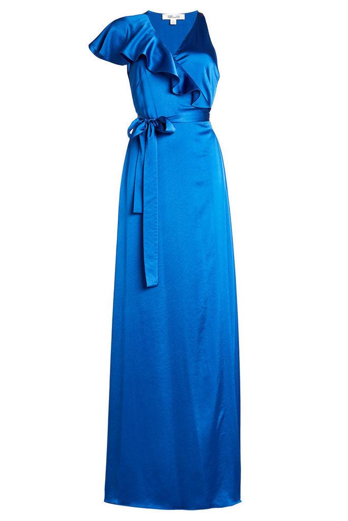 Diane von Furstenberg Floor Length Satin Dress