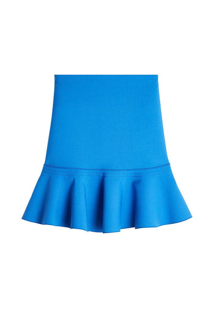 Victoria, Victoria Beckham Wool-Blend Skirt with Flutter Hem