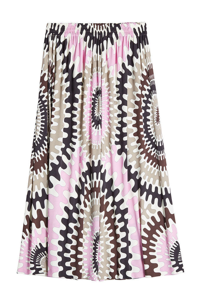 Emilio Pucci Printed Maxi Skirt with Silk
