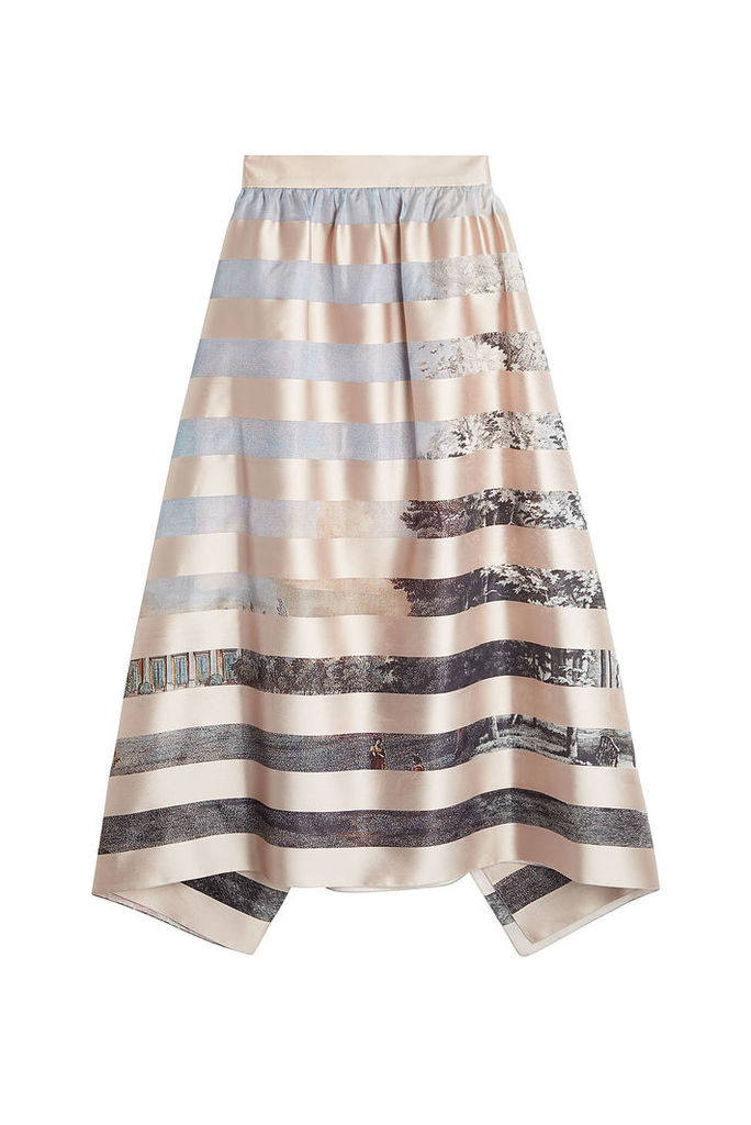 Fendi Printed Skirt with Silk