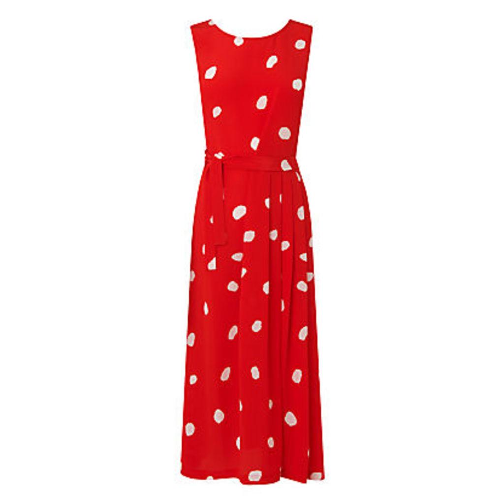 L.K. Bennett Penny Silk Dress, Red