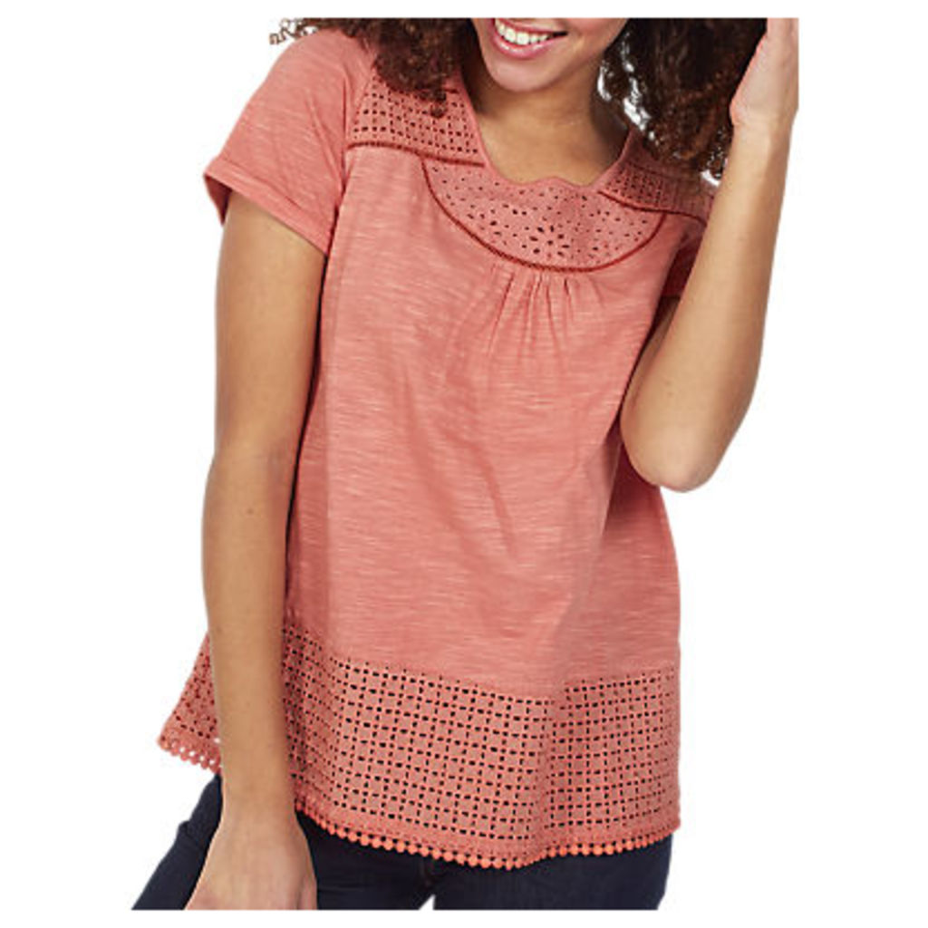 Fat Face Olivia Broderie Top
