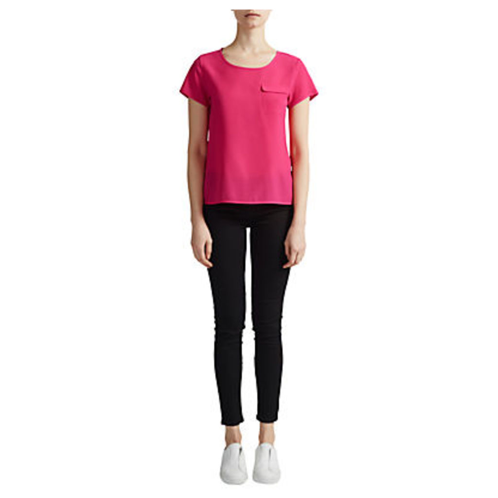 French Connection Classic Crepe Light Pocket Top
