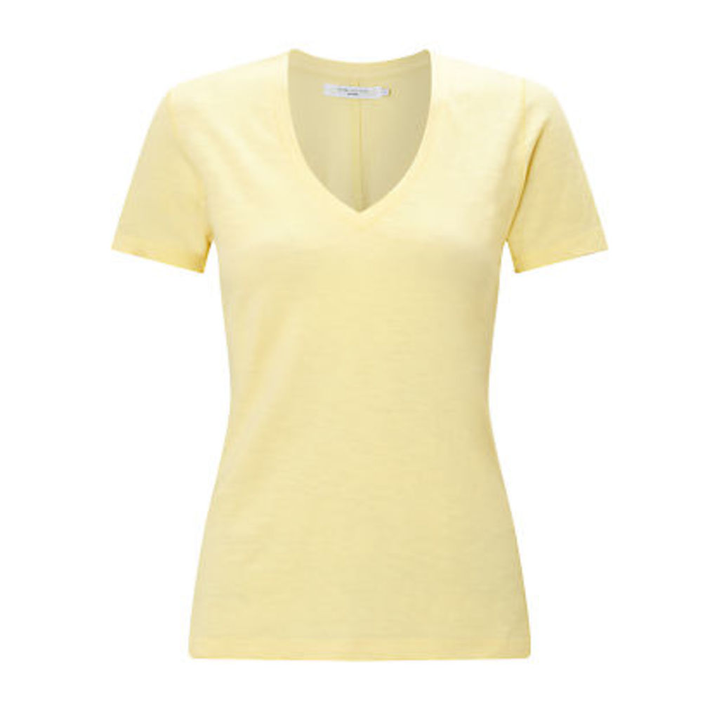 John Lewis Cotton Slub V-Neck T-Shirt
